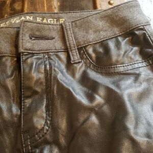 American Eagle Outfitters Pants - AE leather pants